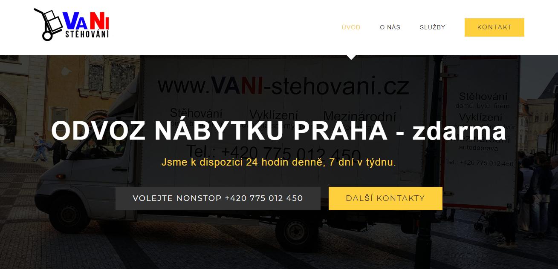 odvoz nábytku Praha